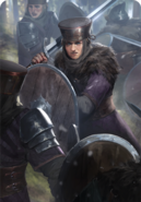 Tw3 cardart skellige clan drummond shieldmaiden 1