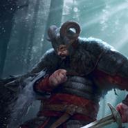 Tw3 cardart skellige clan an craite warrior