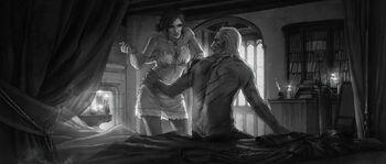 Geralt y Triss Final