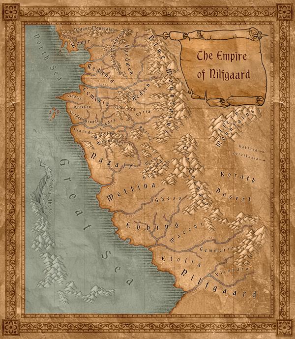 Mapa Nilfgaard