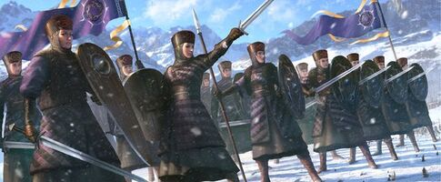 Queen's guard gwent card art