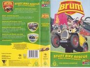 Stunt Bike Rescue VHS cover and rear