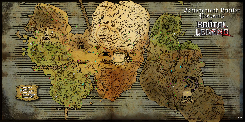 Image   World Map. | Brutal Legend Wiki | FANDOM powered by Wikia