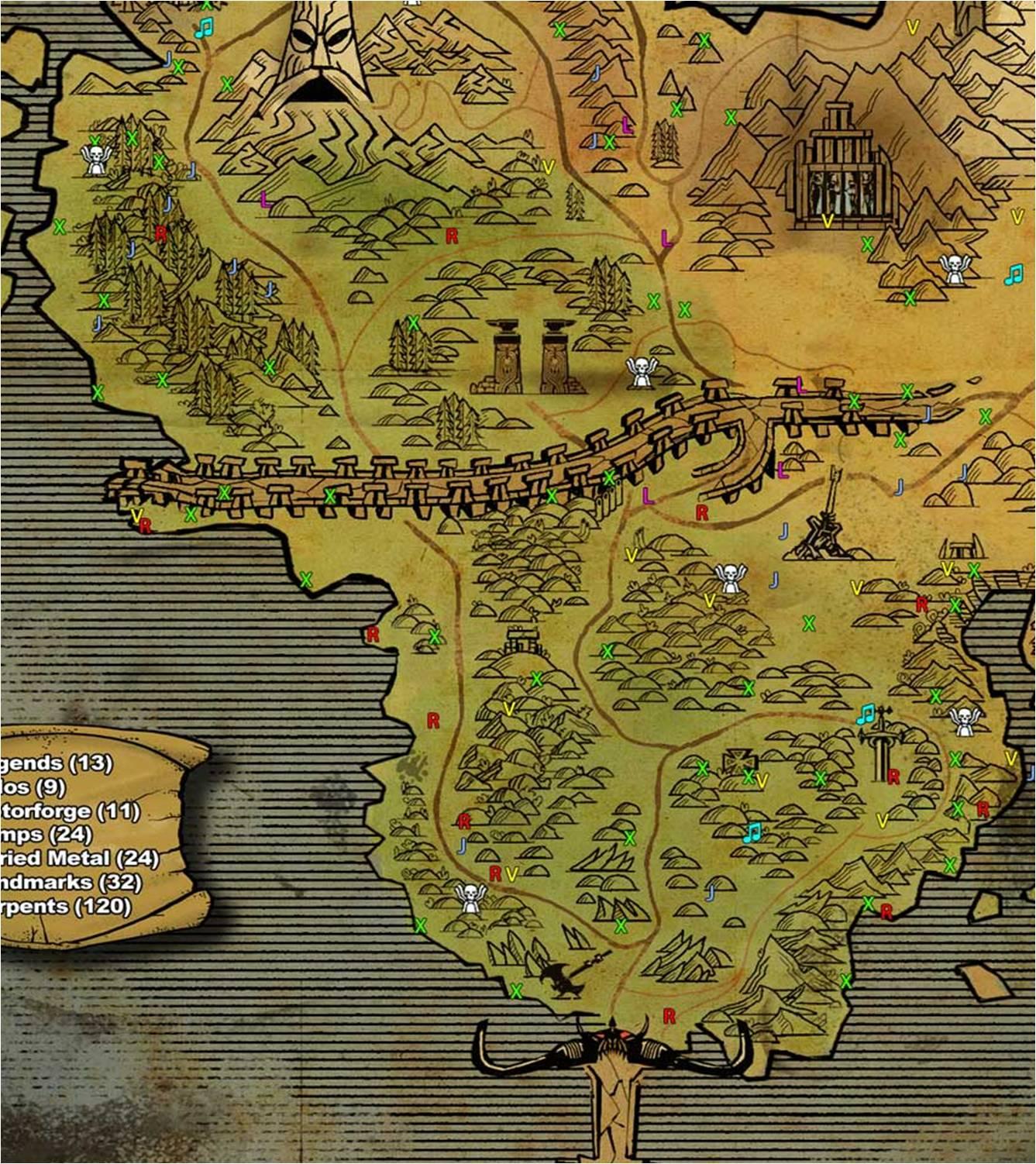 Image   Bladehenge Map. | Brutal Legend Wiki | FANDOM powered