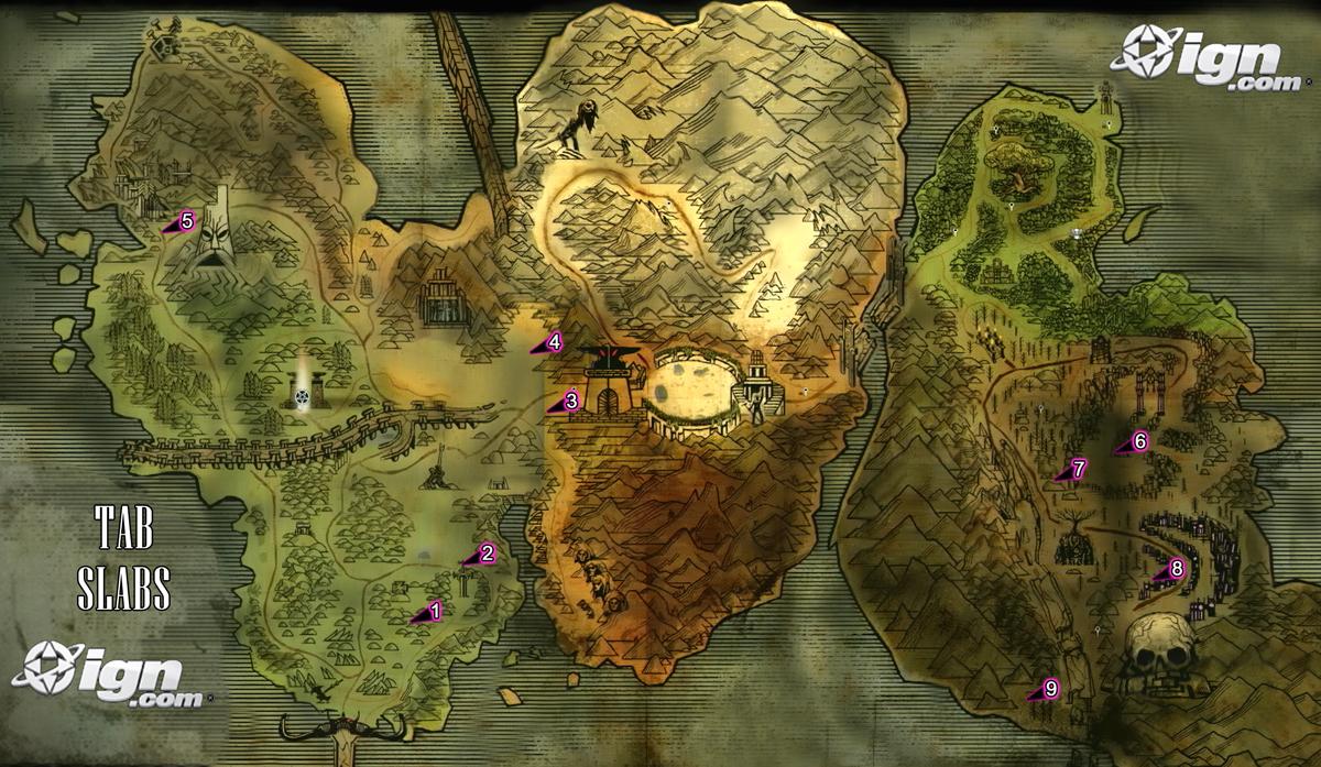 Image   Tab Slab Map. | Brutal Legend Wiki | FANDOM powered by