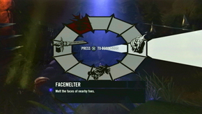 Facemelter Menu