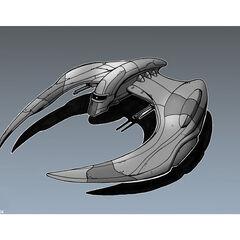 Cylon Raider Concept Drawing