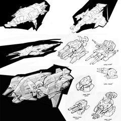 Wraith Concept Sketches
