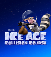 Ice Age Collision Course logo with Scrat