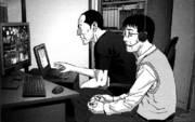 Hisanobu and Shinichi are looking for information.