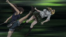 Hidemi kicks Himiko