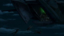 Btooom! players jump out of plane