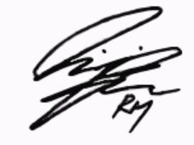 RM - Unterschrift