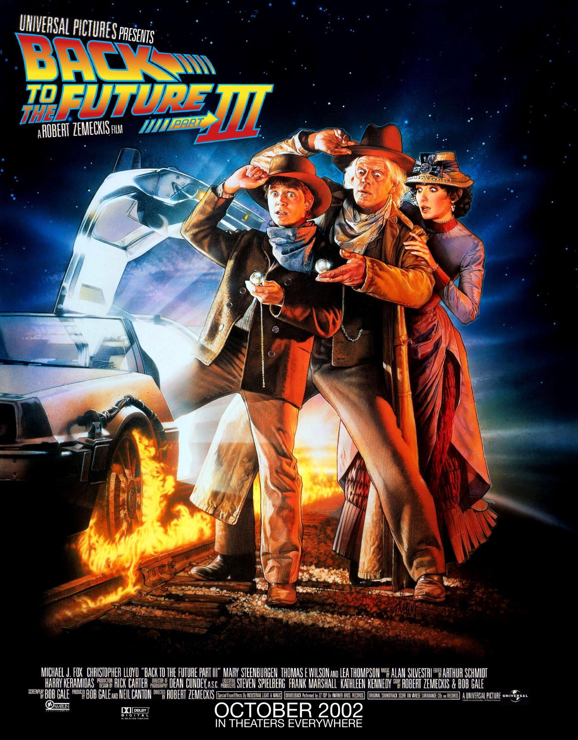 Back to the future poster signed