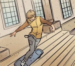 Skateboarding courthouse