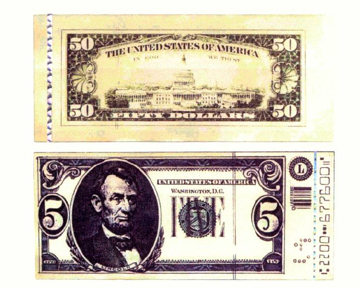Notice The Relative Flatness And Lack Of Detail On Fake Bill Look Carefully At Printing Quality Real U S Bills Are Printed Using Techniques That