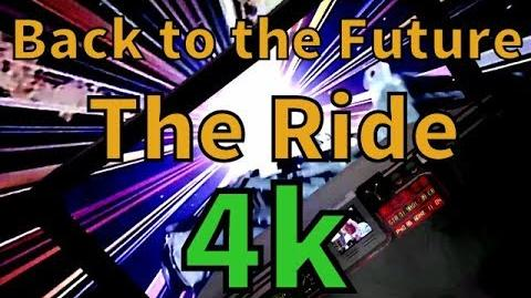 Back to the Future the Ride 4k 60fps animation