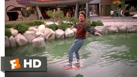 Back to the Future Part 2 (3 12) Movie CLIP - Hover Board Chase (1989) HD