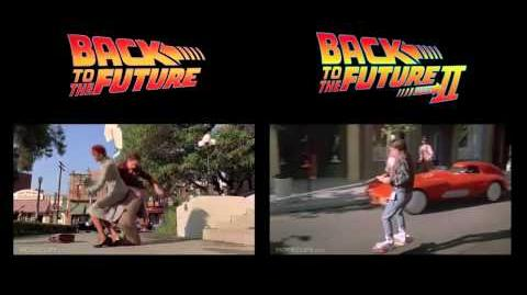 Back to the Future- Skateboard & Hoverboard Chase- Side by side
