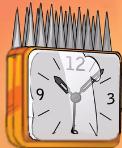 Barbed alarm clock