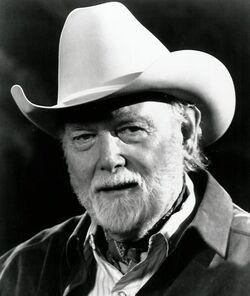 Harey Carey, Jr black and white photo