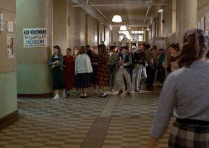 Hvhs-hallway 1955