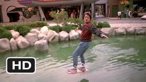Hover Board Chase Scene - Back to the Future Part 2 Movie (1989) - HD