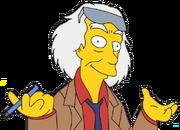 Simpsonized Emmett Brown