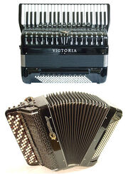442px-A convertor free-bass piano-accordion and a Russian bayan