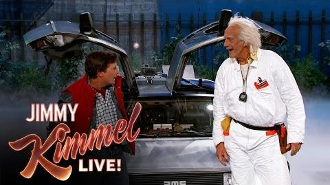 Marty McFly & Doc Brown Visit Jimmy Kimmel Live