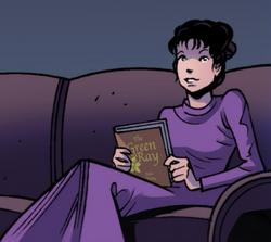 Clara reading The Green Ray