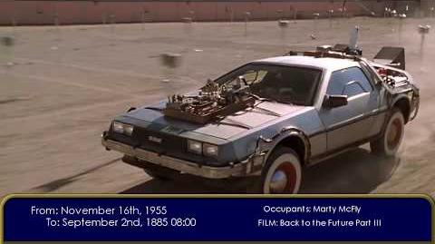 BTTF Every time travel scene - Films, Game, Comics, Ride and Animated Series