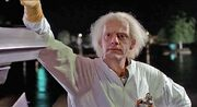 Emmett Brown posing 1985