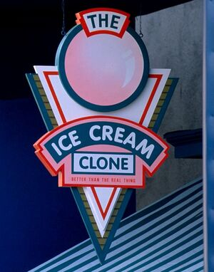 The Ice Cream Clone sign