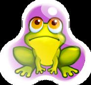Frog in shield