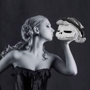 A girl and Morgana's head