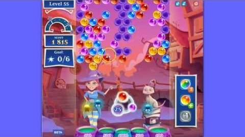 Bubble Witch Saga 2 level 55 - clear the top