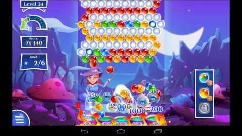 Bubble Witch Saga 2 Level 34 - 3 Star Walkthrough