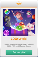 Gifts for 1000 levels