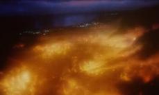 Genom city ablaze