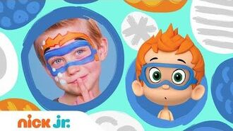 DIY Halloween Face Painting w Bubble Guppies 🎨 Stay Home WithMe Arts + Crafts Nick Jr.