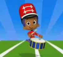 Goby playing drums