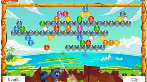 Facebook - Bubble Island - Stage 10 Level 5 - Walkthrough