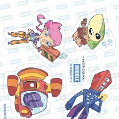 Наклейки с персонажами Метеоры