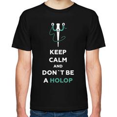 Чёрная футболка Don't be a holop