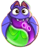BWS3 Bat Duo Green-Purple bubble