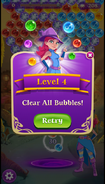 BWS3 Clear All Bubbles level - Retry