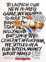 Bubsy 1 - USA Magazine ad
