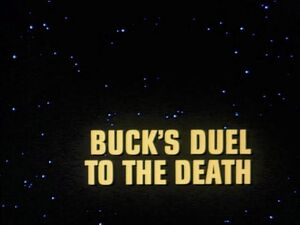 Buck's Duel to the Death title card