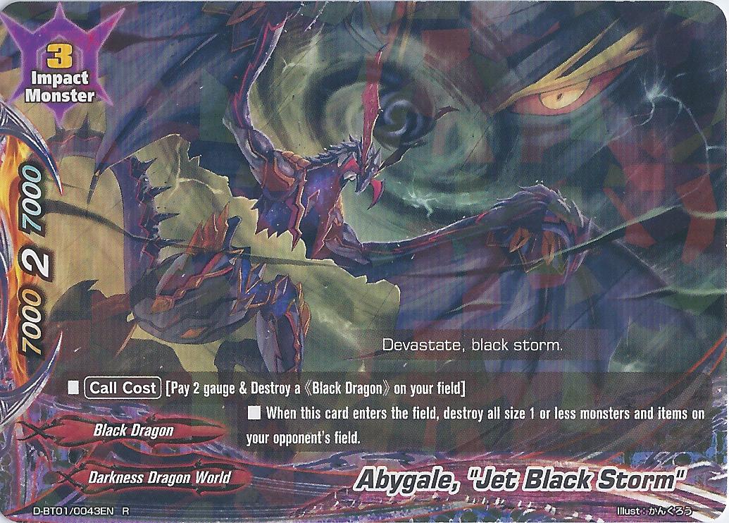 "/""Jet Black Storm/"" Buddyfight English D-BT01//0043EN R Abygale"